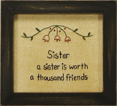 A Sister Is Worth A Thousand Friends Stitchery