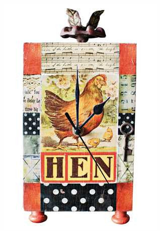 Country Hen Mantle Clock