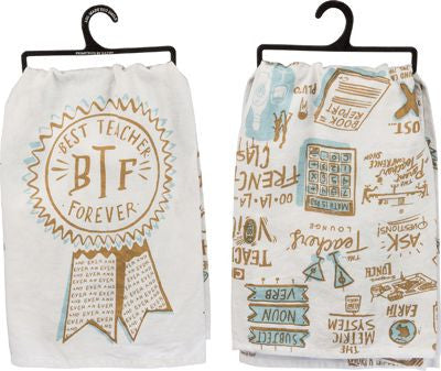 Best Teacher Forever Dish Towel