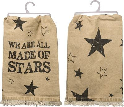 Fringed We Are All Made Of Stars Dish Towel
