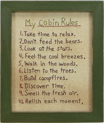 Cabin Rules Stitchery