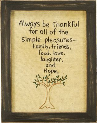 Always Be Thankful Stitchery