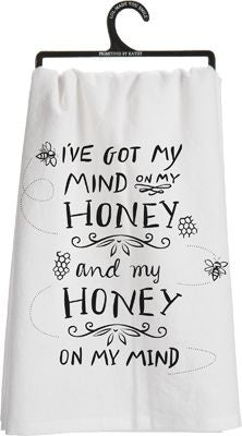 I've Got My Mind On Honey Dish Towel