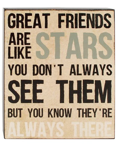 Great Friends Are Like Stars Wall Sign