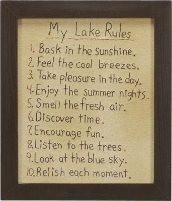 Lake Rules Stitchery
