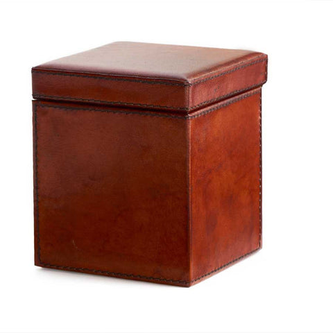 Small Leather Copper Ring Box