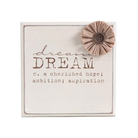 Dream Plaque With Flower