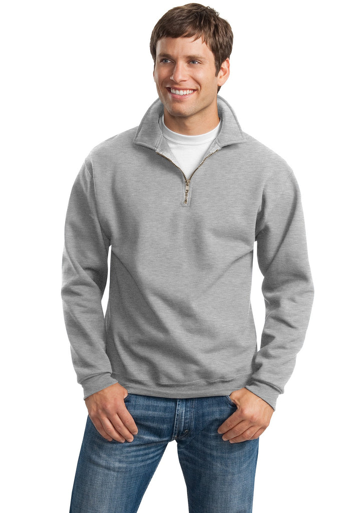JERZEES® SUPER SWEATS® - 1/4-Zip Sweatshirt with Cadet Collar.  4528M - Jerzees - Officers Only - 1