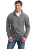JERZEES® SUPER SWEATS® - 1/4-Zip Sweatshirt with Cadet Collar.  4528M - Jerzees - Officers Only - 5