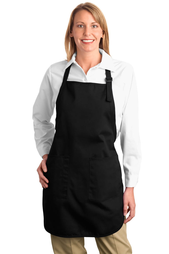 Port Authority® Full Length Apron with Pockets.  A500 - Port Authority - Officers Only - 1