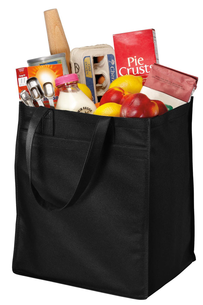 Port & Company® - Extra-Wide Polypropylene Grocery Tote. B160 - Port & Company - Officers Only - 1