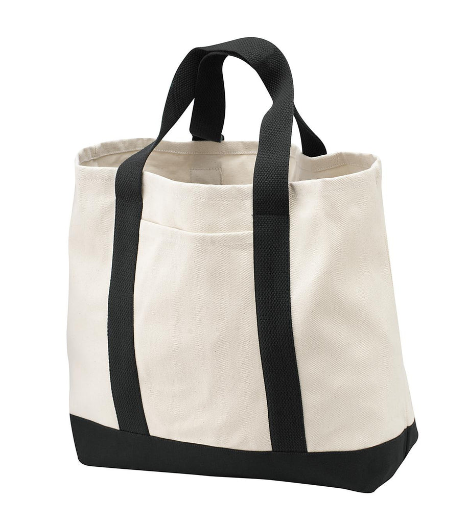 Port & Company® - 2-Tone Shopping Tote.  B400 - Port & Company - Officers Only - 1