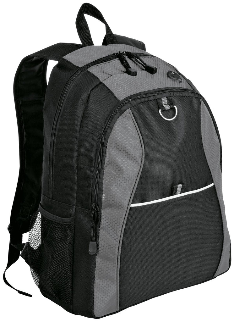 Port & Company® Contrast Honeycomb Backpack. BG1020 - Port & Company - Officers Only - 1