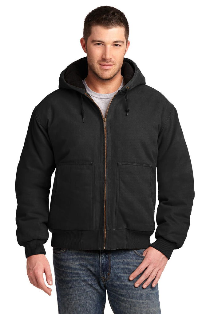 CornerStone® Washed Duck Cloth Insulated Hooded Work Jacket. CSJ41 - CornerStone - Officers Only - 1