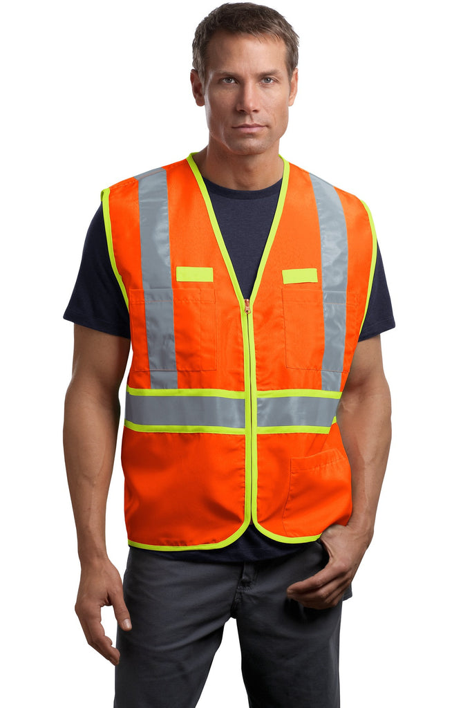 CornerStone® - ANSI 107 Class 2 Dual-Color Safety Vest. CSV407 - CornerStone - Officers Only - 1