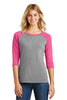 District Made® Ladies Perfect Tri™ 3/4-Sleeve Raglan. DM136L - District Made - Officers Only - 2