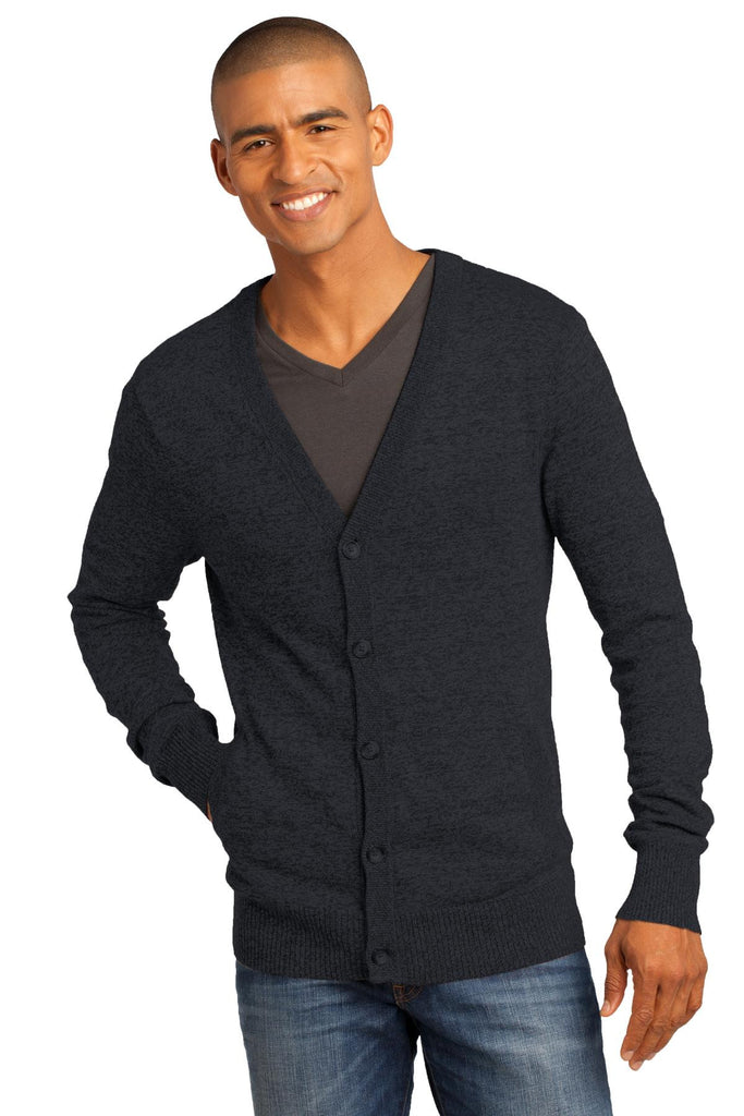 District Made® - Mens Cardigan Sweater. DM315 - District Made - Officers Only - 1