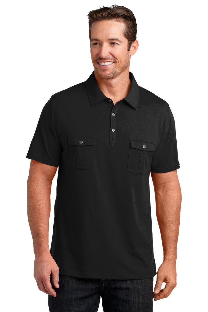 District Made® Mens Double Pocket Polo. DM333 - District Made - Officers Only - 1
