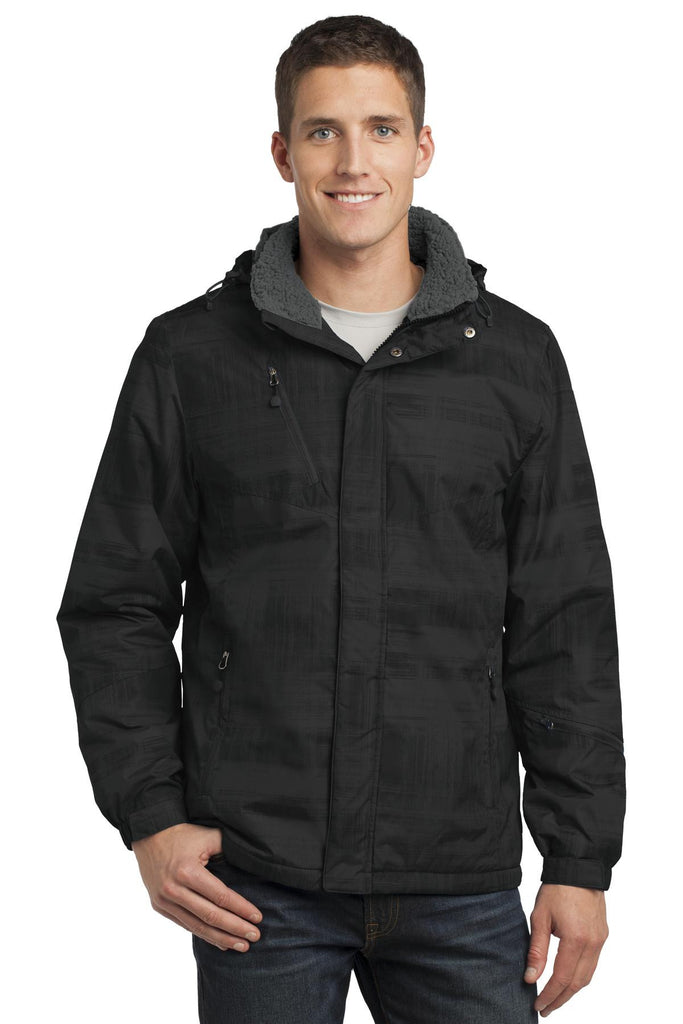Port Authority® Brushstroke Print Insulated Jacket. J320 - Port Authority - Officers Only - 1