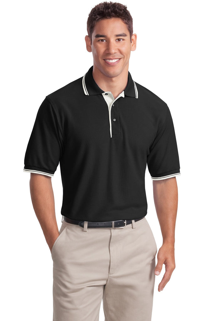 Port Authority® Silk Touch™ Polo with Stripe Trim.  K501 - Port Authority - Officers Only - 1