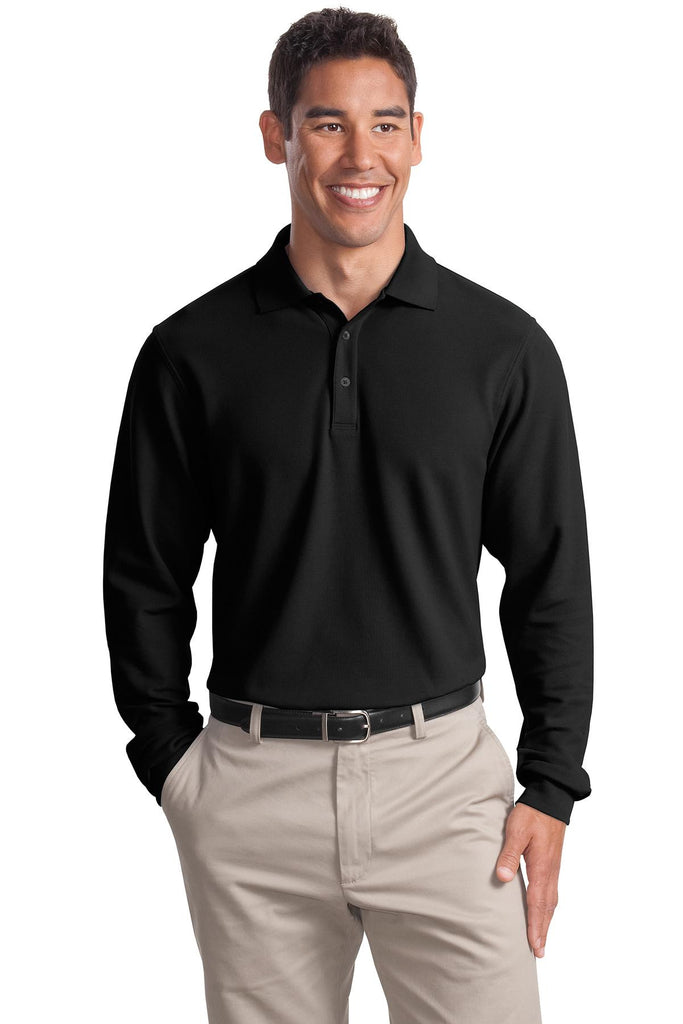 Port Authority® Long Sleeve EZCotton™ Pique Polo. K800LS - Port Authority - Officers Only - 1