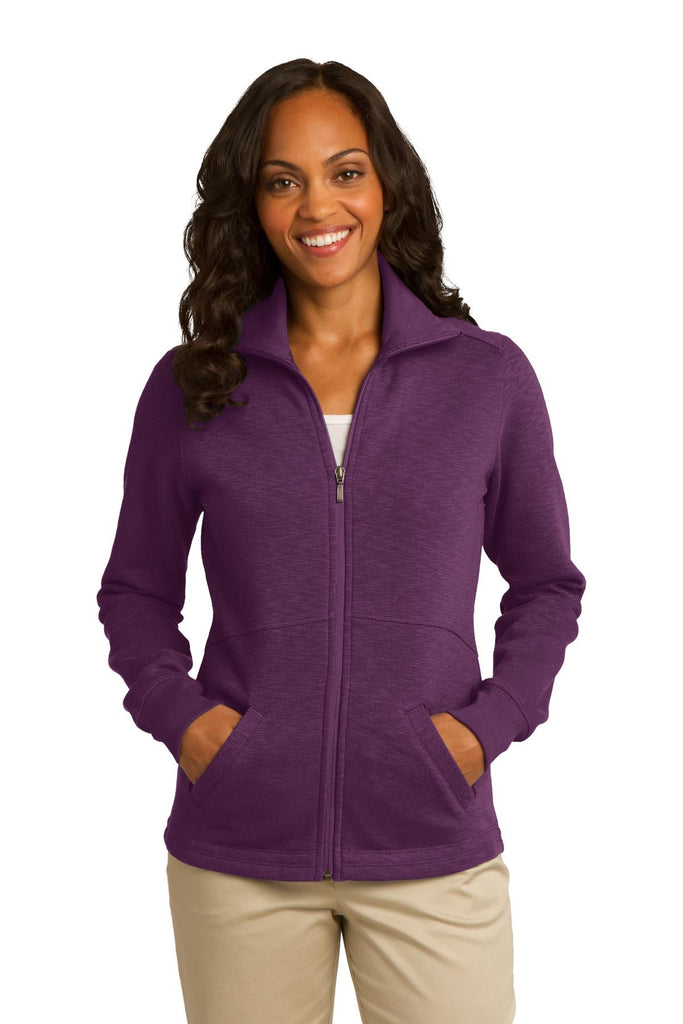 Port Authority® Ladies Slub Fleece Full-Zip Jacket. L293 - Port Authority - Officers Only - 1
