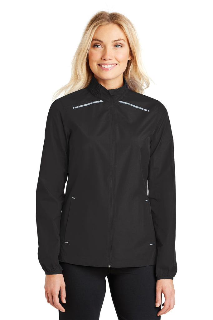Port Authority® Ladies Zephyr Reflective Hit Full-Zip Jacket. L345 - Port Authority - Officers Only - 1