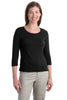 Port Authority® Ladies Modern Stretch Cotton 3/4-Sleeve Scoop Neck Shirt. L517 - Port Authority - Officers Only - 1