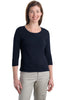 Port Authority® Ladies Modern Stretch Cotton 3/4-Sleeve Scoop Neck Shirt. L517 - Port Authority - Officers Only - 4
