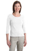 Port Authority® Ladies Modern Stretch Cotton 3/4-Sleeve Scoop Neck Shirt. L517 - Port Authority - Officers Only - 5