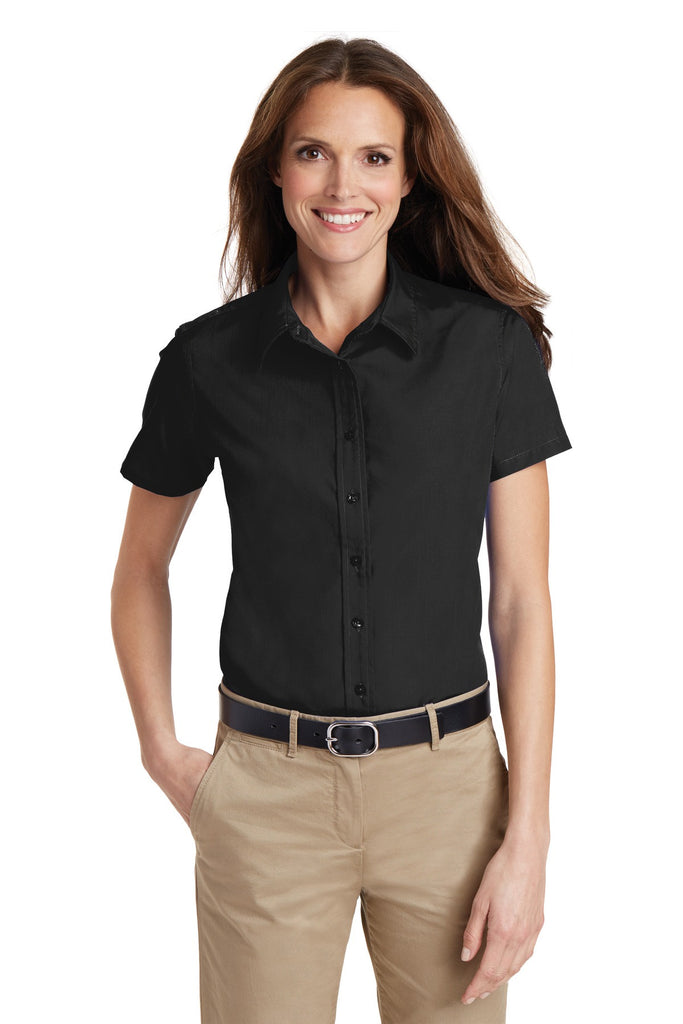 Port Authority® Ladies Short Sleeve Value Poplin Shirt. L633 - Port Authority - Officers Only - 1