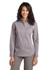 Port Authority® Ladies Fine Stripe Stretch Poplin Shirt. L647 - Port Authority - Officers Only - 1