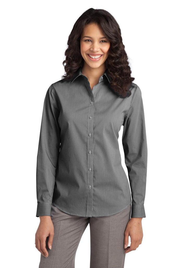 Port Authority® Ladies Fine Stripe Stretch Poplin Shirt. L647 - Port Authority - Officers Only - 2