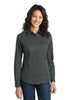 Port Authority® Ladies Stain-Resistant Roll Sleeve Twill Shirt. L649 - Port Authority - Officers Only - 3