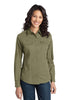 Port Authority® Ladies Stain-Resistant Roll Sleeve Twill Shirt. L649 - Port Authority - Officers Only - 5