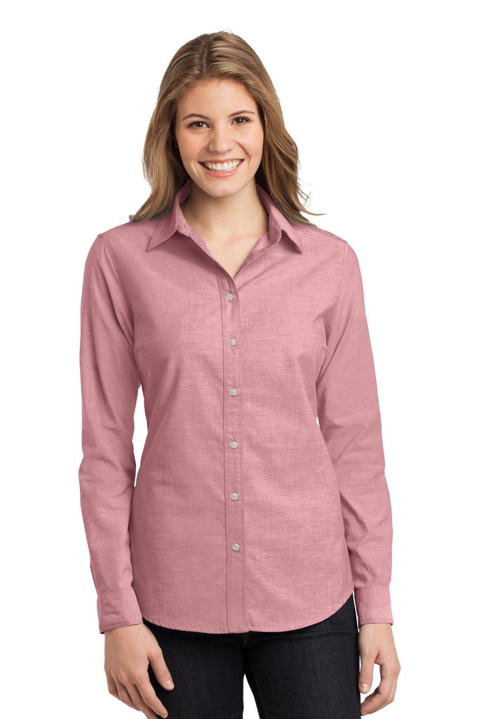Port Authority® Ladies Chambray Shirt. L653 - Port Authority - Officers Only - 1