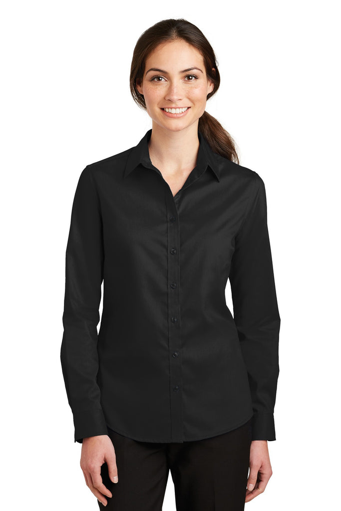Port Authority® Ladies SuperPro™ Twill Shirt. L663 - Port Authority - Officers Only - 1