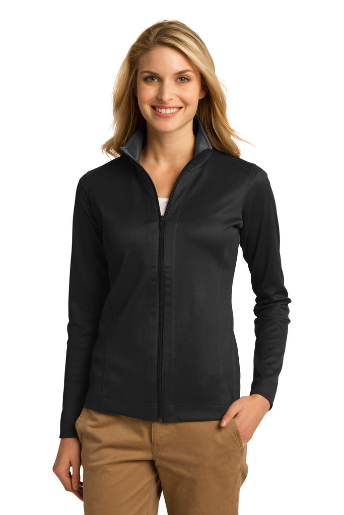 Port Authority® Ladies Vertical Texture Full-Zip Jacket. L805 - Port Authority - Officers Only - 1