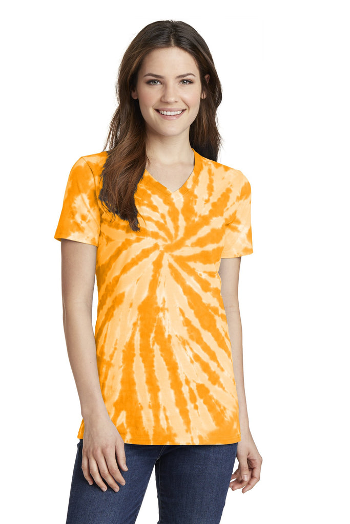 Port & Company® Ladies Essential Tie-Dye V-Neck Tee.  LPC147V - Port & Company - Officers Only - 1