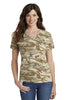 Port & Company® Ladies 5.4-oz 100% Cotton V-Neck Camo Tee.  LPC54VC - Port & Company - Officers Only - 1