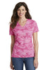 Port & Company® Ladies 5.4-oz 100% Cotton V-Neck Camo Tee.  LPC54VC - Port & Company - Officers Only - 3