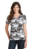 Port & Company® Ladies 5.4-oz 100% Cotton V-Neck Camo Tee.  LPC54VC - Port & Company - Officers Only - 4