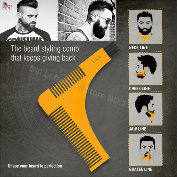 Beard Shaping Tool yellow