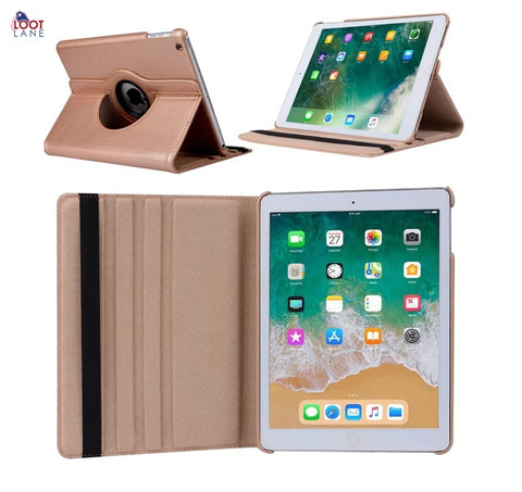 360 Degree Rotating Leather Smart Cover Case for Apple iPads