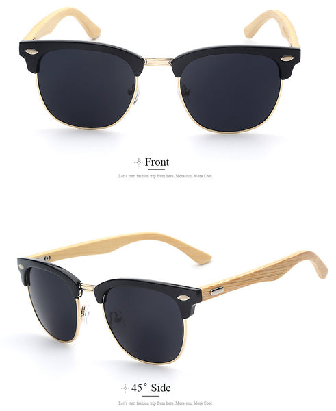 Sunglasses - Clubmaster Wooden Sunglasses