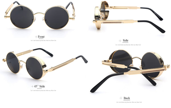 Steampunk Sunglasses Gold