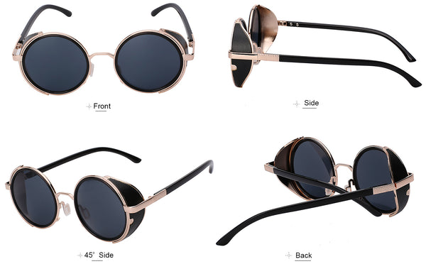 Sunglasses - Steampunk Sunglasses With Side Shields