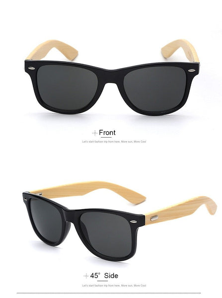 Sunglasses - Wayfarer Wooden Sunglasses