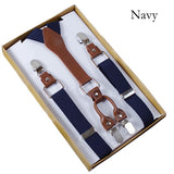 Mens navy Suspenders