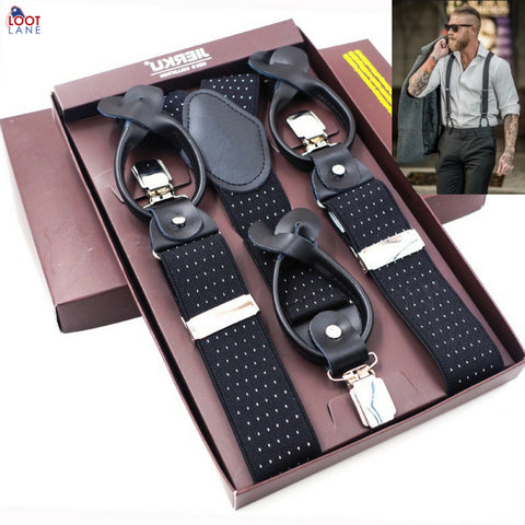 Button Suspenders For Men